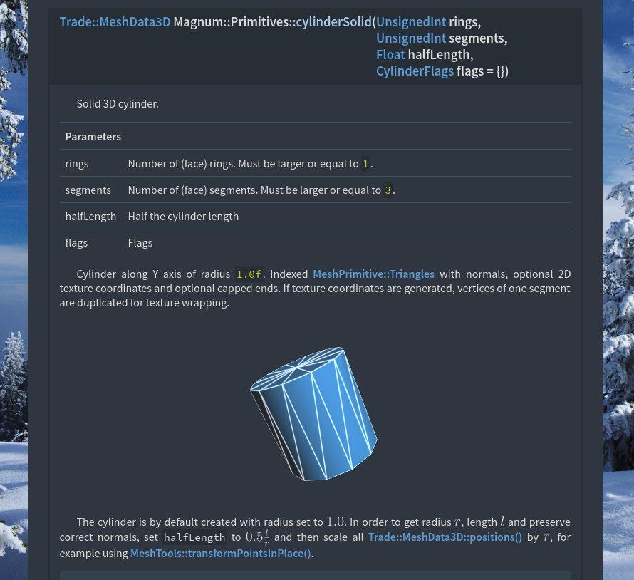 Primitives namespace documentation