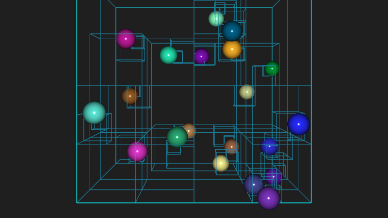 Octree example screenshot