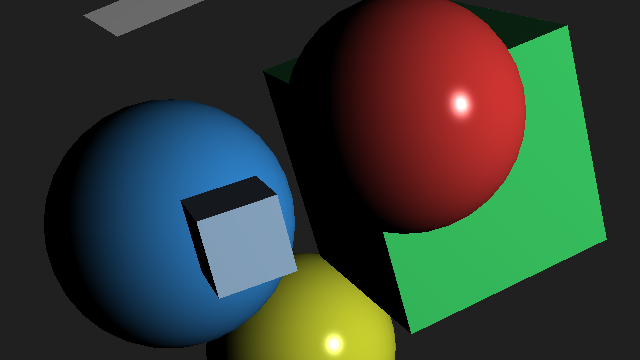 Object picking example screenshot