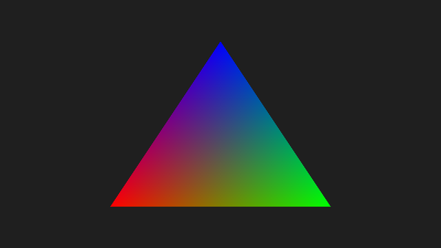 sokol_gfx Triangle example screenshot